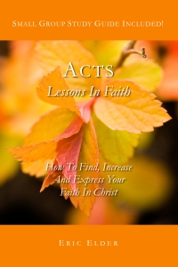 You're reading ACTS: LESSONS IN FAITH, by Eric Elder, featuring thirty inspiring devotionals based on the lives of the very first followers of Christ. Also available in paperback and eBook formats in our bookstore for a donation of any size!