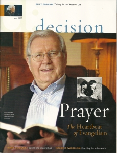 Decision Magazine Cover, April, 2005, featuring Eric Elder and The Ranch inside