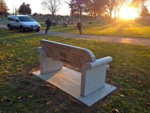 Lana's Bench At Sunset