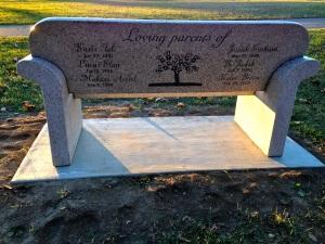 Lana Elder's Memorial Bench - Back