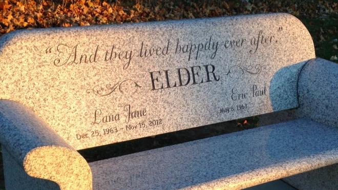 Lana Elder's Memorial Bench