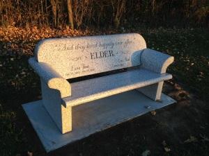 Lana Elder Memorial Bench - Front