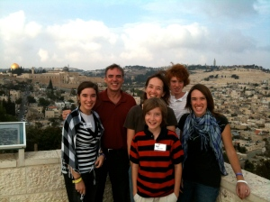 Lana and Family in Jerusalem