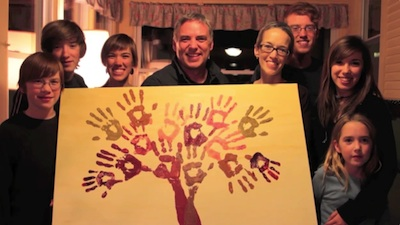 Eric Elder Family with Hand Print