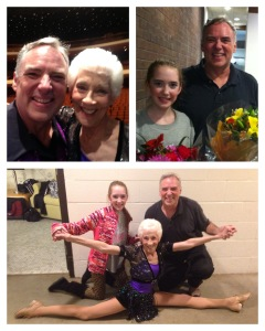 Miss Janet, Kaleo and me dancing in Miss Janet's 60th dance recital.