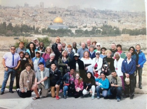 Our group in Israel for Easter.