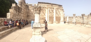 Sharing my testimony with our group in Capernaum.
